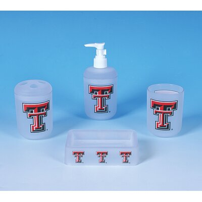NCAA 4 Piece Bath Set NCAA Team: Texas Tech