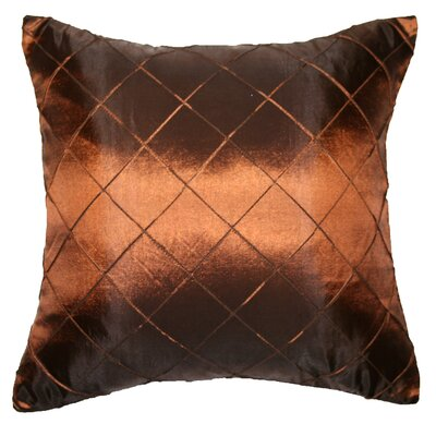 Silky Checks Decorative Throw Pillow Color: Brown