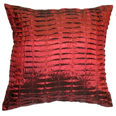 Silky Pleated Throw Pillow Color: Burgundy