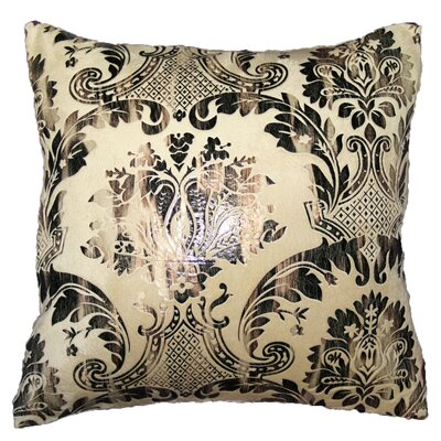 Damask Design Decorative Throw Pillow Color: Gold