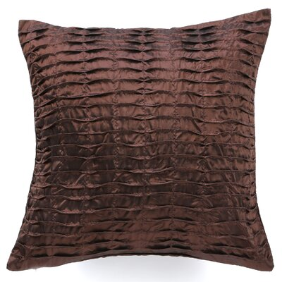 Silky Pleated Throw Pillow Color: Brown