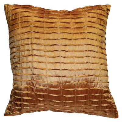 Silky Pleated Throw Pillow Color: Gold