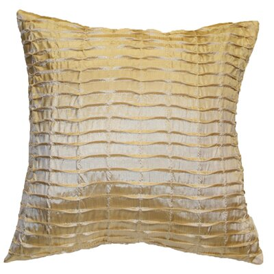 Silky Pleated Throw Pillow Color: Beige