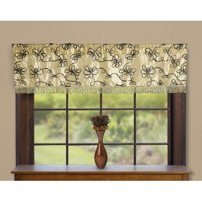 """Violet Linen Venetian Vintage Embroidered Floral Design 60"""" Window Valance - Color: Gold at Sears.com"""
