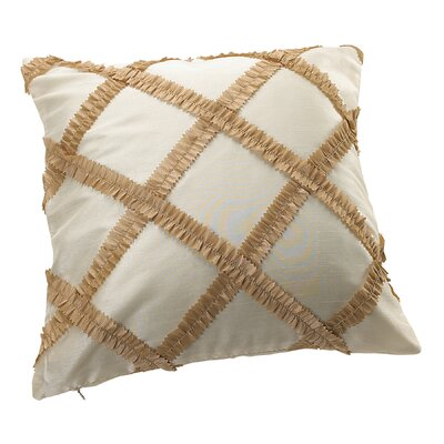 Royal Vintage Embroidered Diamond Design Decorative Throw Pillow Color: Gold