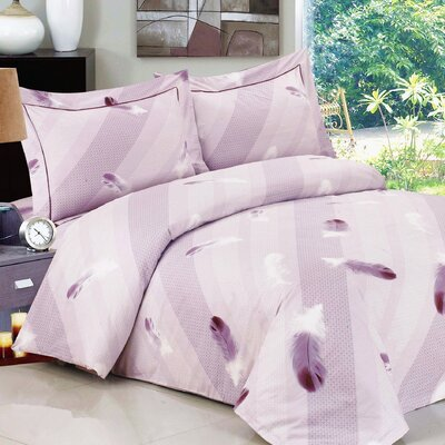 French Feathers Luxurious 6 Piece Duvet CoverSet Size: Twin / 39