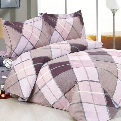 French Triangle Deep Luxurious 6 Piece Duvet Cover Set Size: Full / 54