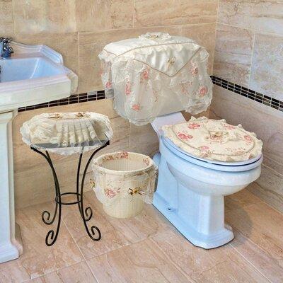 Eden Lace 4-Piece Bathroom Set Color: Beige