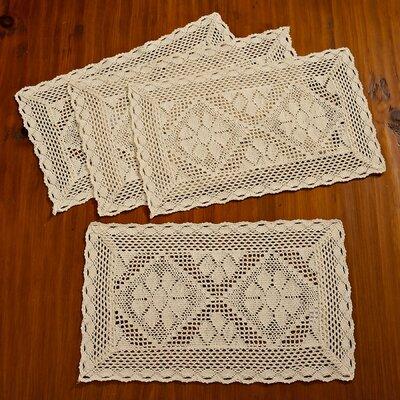 Stars Crochet Vintage Placemat Color: Ivory VL Stars-80068 Placemat IV-C