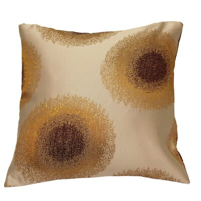 Emblem Decorative Cushion Cover Color: Lilac/Silver