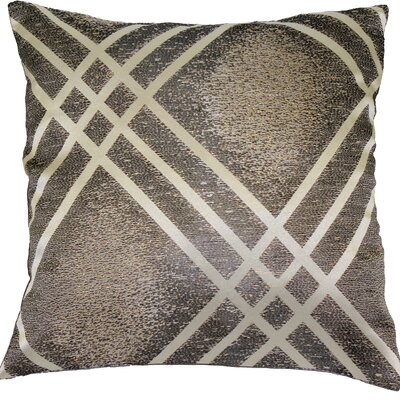 Fortune Decorative Cushion Cover Color: Silver