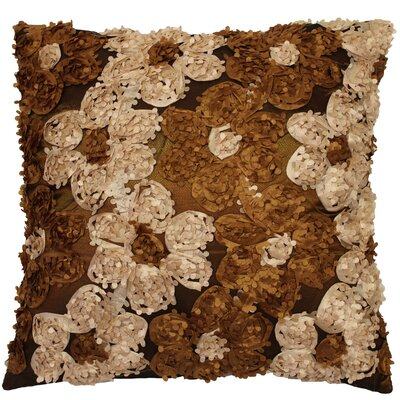 Rosetta Silky Decorative Cushion Cover Color: Brown