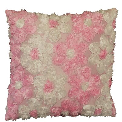 Rosetta Silky Decorative Cushion Cover Color: Pink