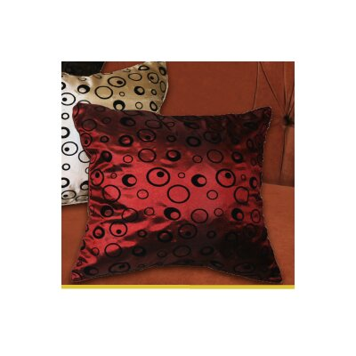Silky Bombay Design Throw Pillow Color: Burgundy
