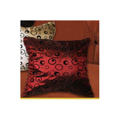 Silky Bombay Design Pillow Cover Color: Burgundy