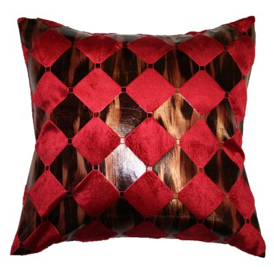 Hexagon Design Decorative Throw Pillow Color: Burgundy