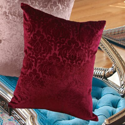 Vintage Damask Decorative Throw Pillow Color: Burgundy