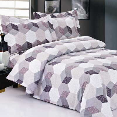 French Hexagons Luxurious Duvet Cover Set Size: 39