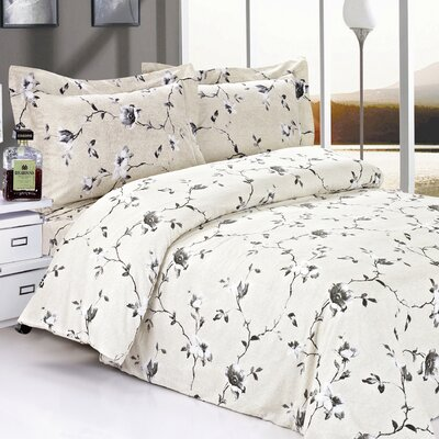 French Roses Luxurious Duvet Cover Set Size: 48