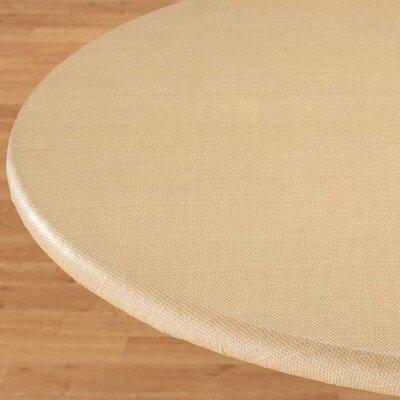 Basketweave Elastic Table Cover Color: Beige