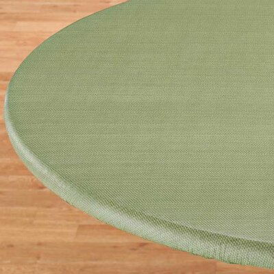Basketweave Elastic Table Cover Color: Green