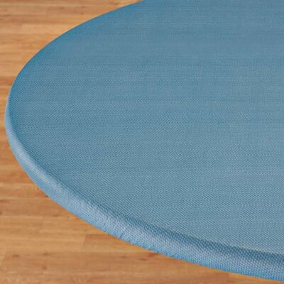 Basketweave Elastic Table Cover Color: Blue