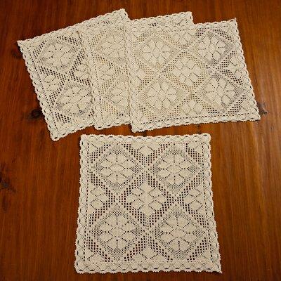 Stars Crochet Vintage Square Doilie Placemat VL Stars-80067 Placemat IV-B
