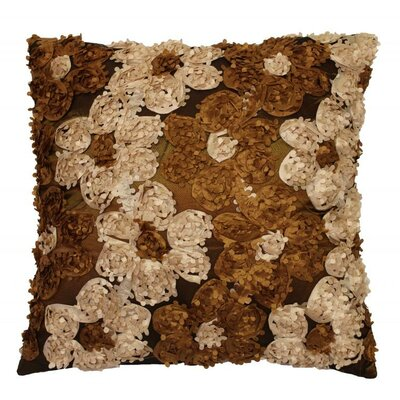 Rosetta Silky Throw Pillow Color: Brown