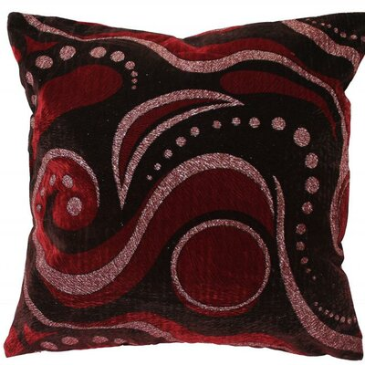 Indiana Throw Pillow Color: Burgundy