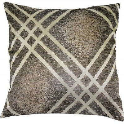 Fortune Throw Pillow Color: Silver