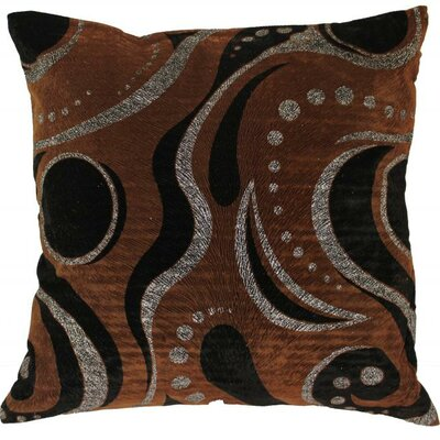 Indiana Throw Pillow Color: Brown/Silver