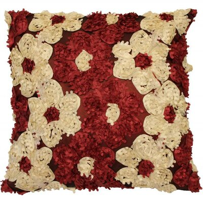 Rosetta Silky Throw Pillow Color: Burgundy