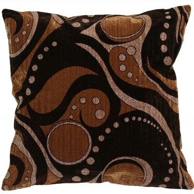 Indiana Throw Pillow Color: Brown/Gold
