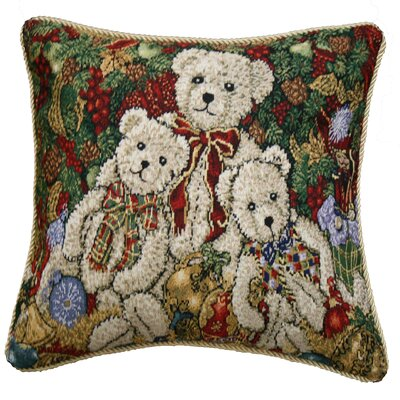 Decorative Christmas Teddy Bears Design Tapestry Throw Pillow