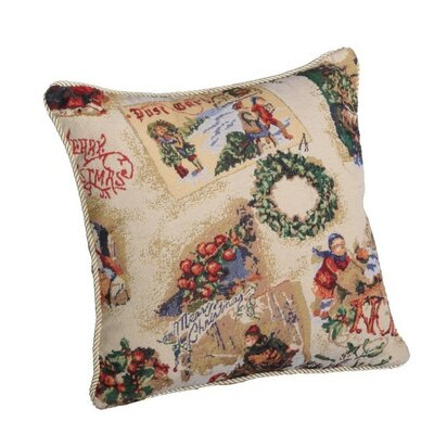 Decorative Christmas Santa Snow Sleigh Design Tapestry Pillow Cover