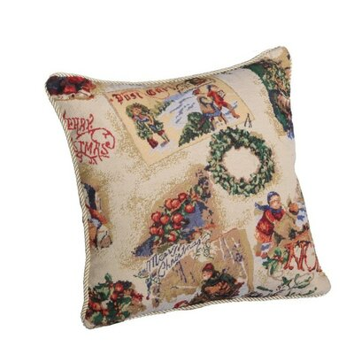 Decorative Christmas Santa Snow Sleigh Design Tapestry Throw Pillow