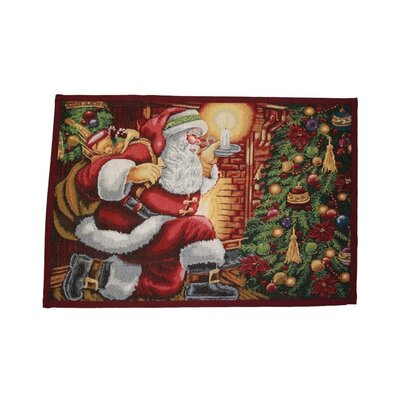 Decorative Christmas Santa Claus Tapestry Placemat