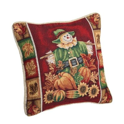 Fall Harvest Scarecrow Throw Pillow