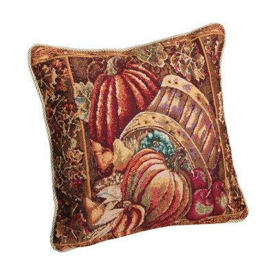 Fall Harvest Bushel Basket Throw Pillow