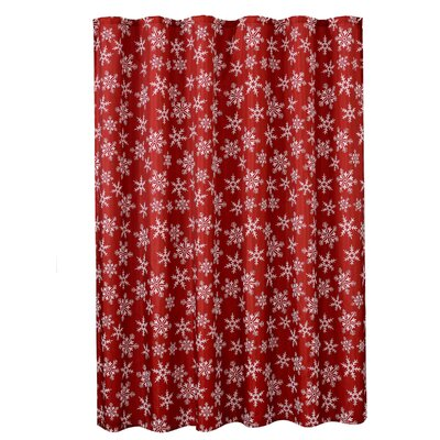 Decorative Christmas Printed Snowflakes Design Shower Curtain