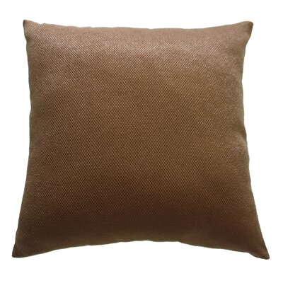 Luxurious Abstract Decorative Chenille Pillow Cover Color: Brown