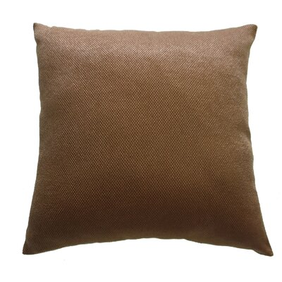 Luxurious Abstract Decorative Chenille Throw Pillow Color: Brown