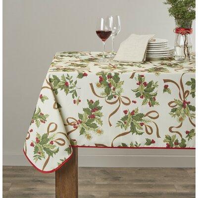 European Seasonal Christmas Ribbons Tablecloth