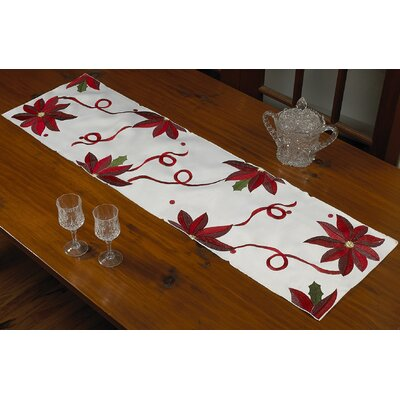"Bloomy Decorative Christmas Table Runner Size: 54"" W x 14"" L"