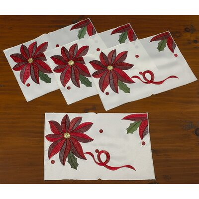 Bloomy Decorative Christmas Placemats
