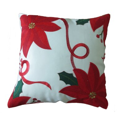 Bloomy Decorative Christmas Throw Pillow