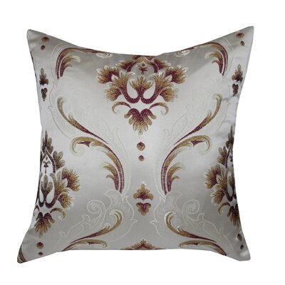 Boutique Luxurious Vintage Throw Pillow Color: Burgundy