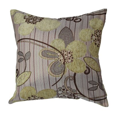Sunflower Luxurious Throw Pillow Color: Gold