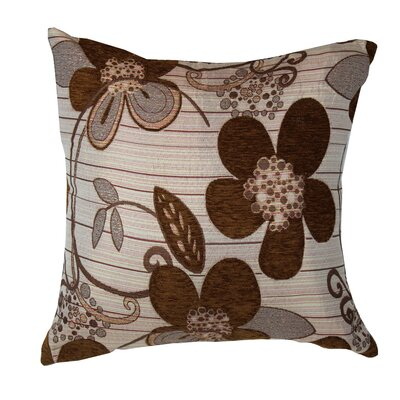 Sunflower Luxurious Throw Pillow Color: Brown