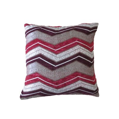 Indiana Chenille Luxurious Throw Pillow Color: Burgundy